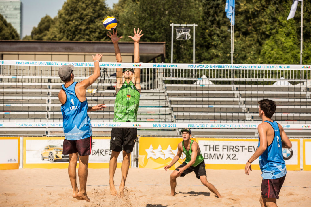 Sixteen Teams Start Men's World University Beach Championships at 2-0