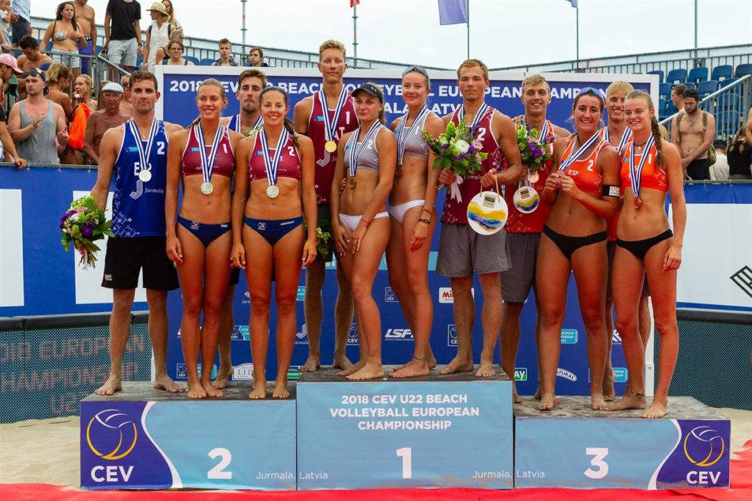 Gold for Latvia and Russia at Euro Beach Volley U22