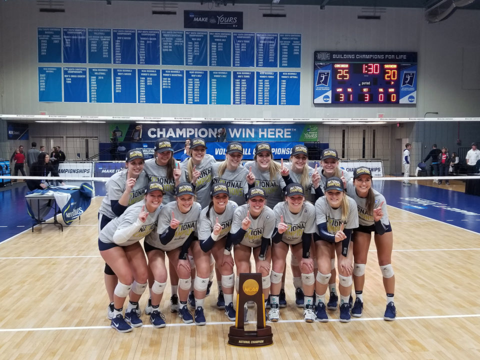 Defending NCAA DII Champs Concordia – St. Paul Top Opening AVCA Poll