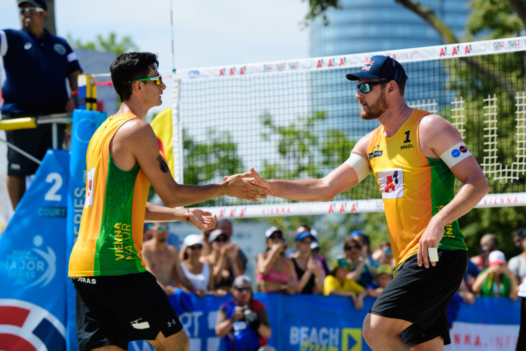 Brazil's Alison/Bruno to Face Off in Saturday's Round of 16 in Vienna