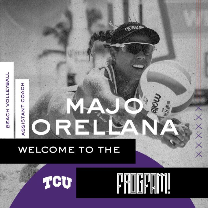 TCU Hires First Dedicated Beach Assistant, Majo Orellana, for 2019
