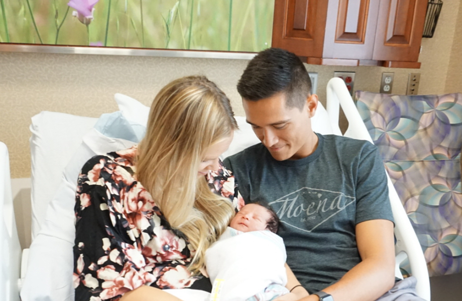 Micah Christenson Celebrates the Birth of His First Son