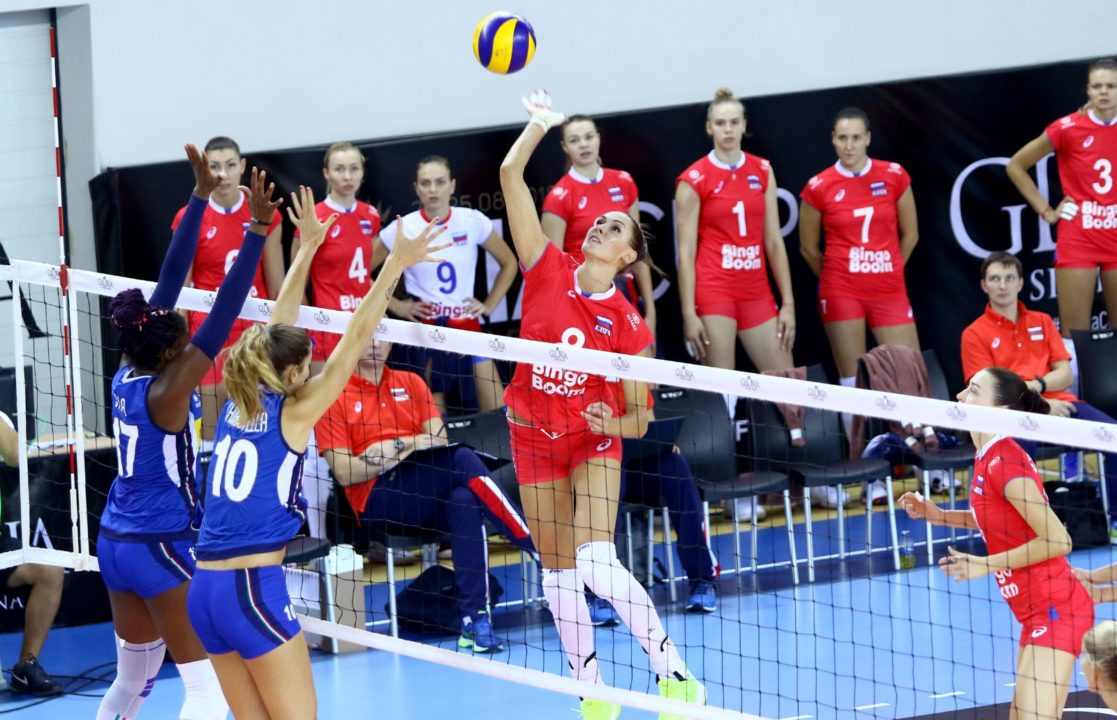 Russia Beats Italy 3-1 to Open 2018 Gloria Cup in Turkey