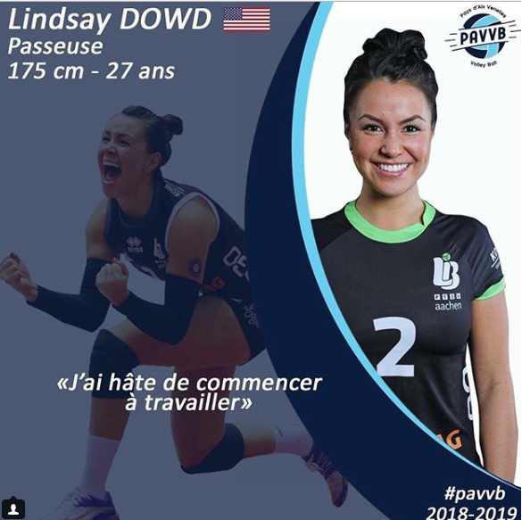 Pays d'Aix Venelles Signs Third American In Setter Lindsay Dowd
