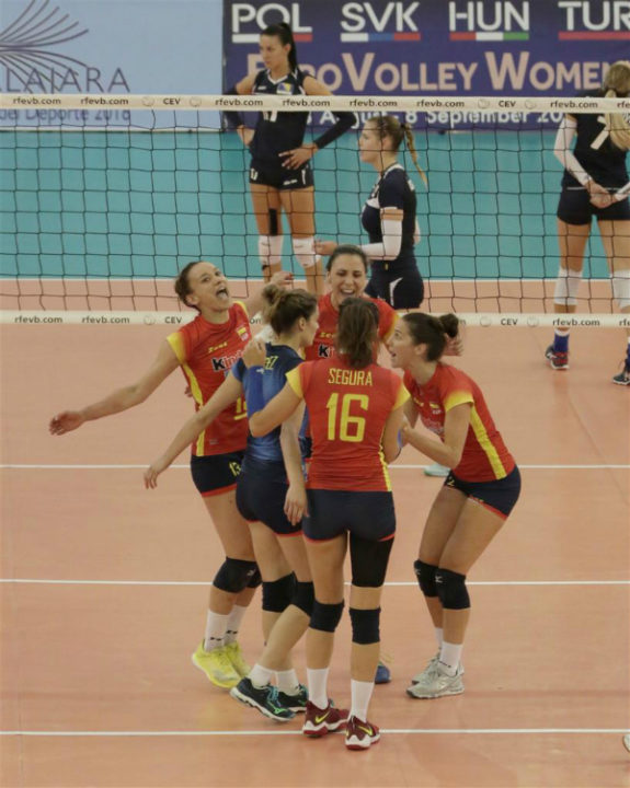 15-year-Old Raquel Montoro Debuts For Spain In Leg 3 Of #EuroVolleyW