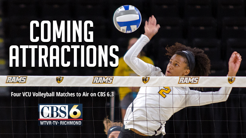 VCU Volleyball Set for Four Local Television Broadcasts