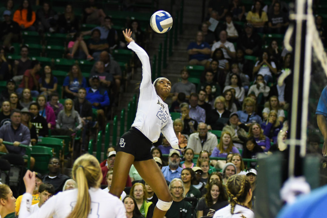 Pressley's Record 39 Kills Help #12 Baylor Down RV Iowa State in 5