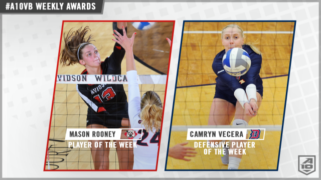 Rooney, Vecera, Paullette Selected for A-10 Week 2 Awards