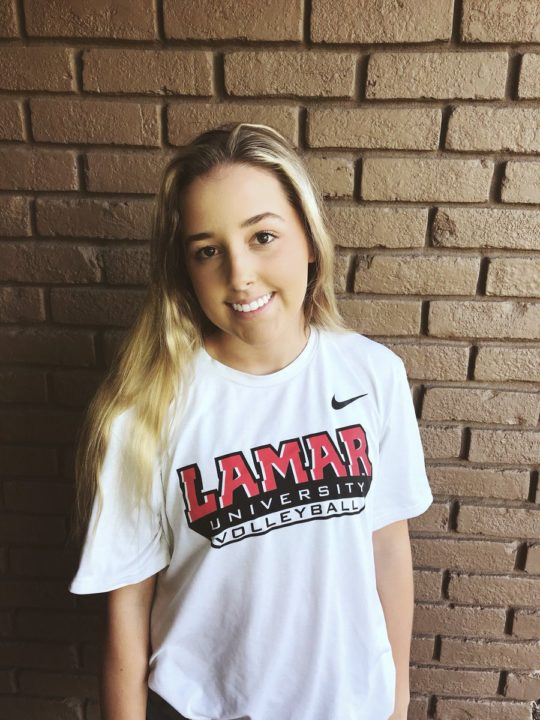 Class of 2019 Setter Annika Slovak Commits to Lamar