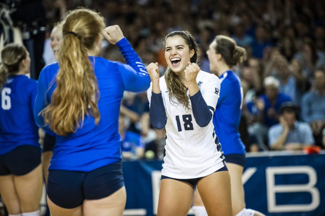 BYU Holds Down No. 1 Spot in AVCA Poll for Second Straight Week