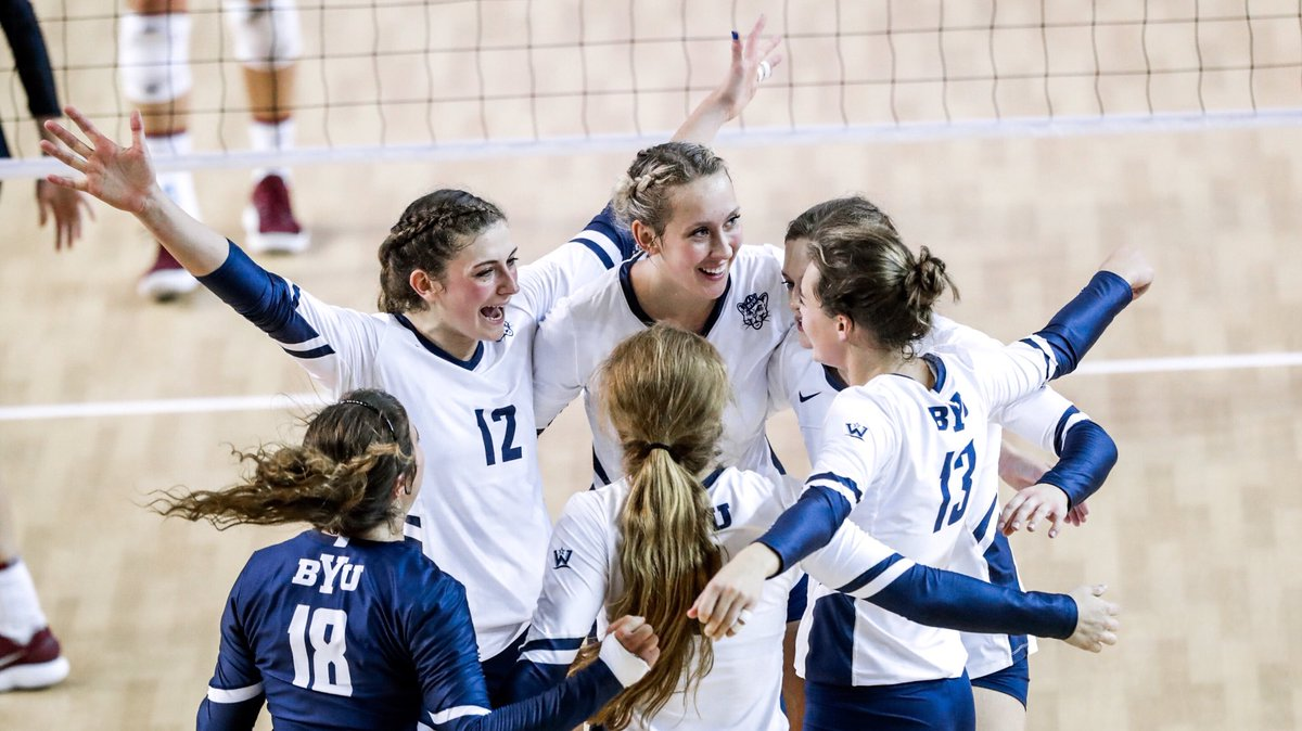 BYU Takes Over No. 1 Spot in AVCA Poll with Two Top 25 Wins