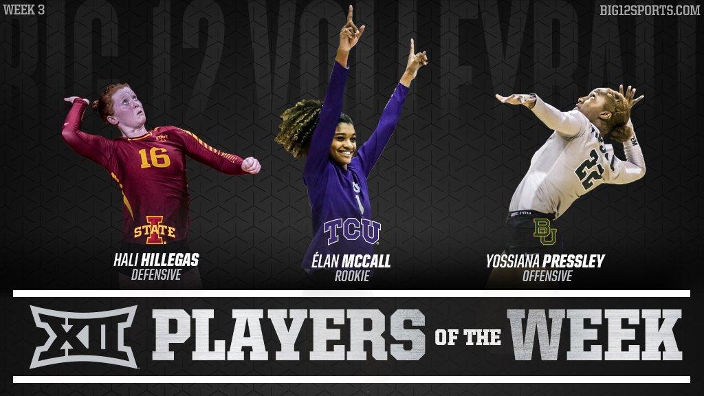 Big 12 Honors Pressley, Hillegas, McCall for Week 3 Efforts