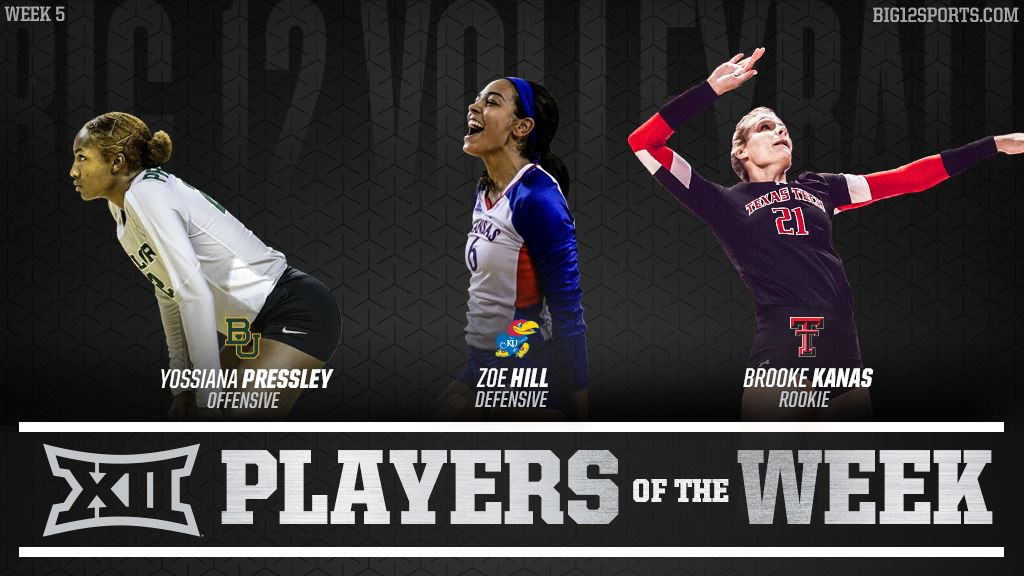 Baylor's Pressley, Kansas' Hill, Texas Tech's Kanas Honored by Big 12