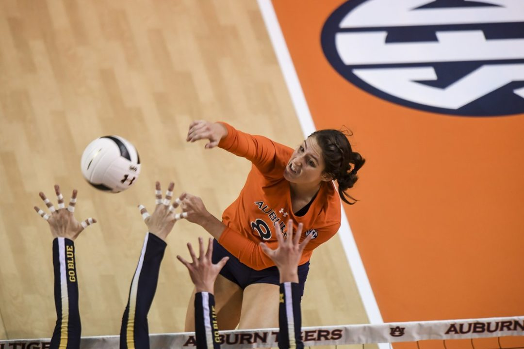 Auburn's Brenna McIlroy Downs 11 Kills vs. Butler to Reach 1000