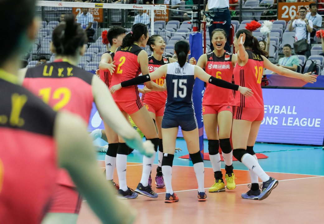 China Announces 14-Woman Roster for 2018 World Championships