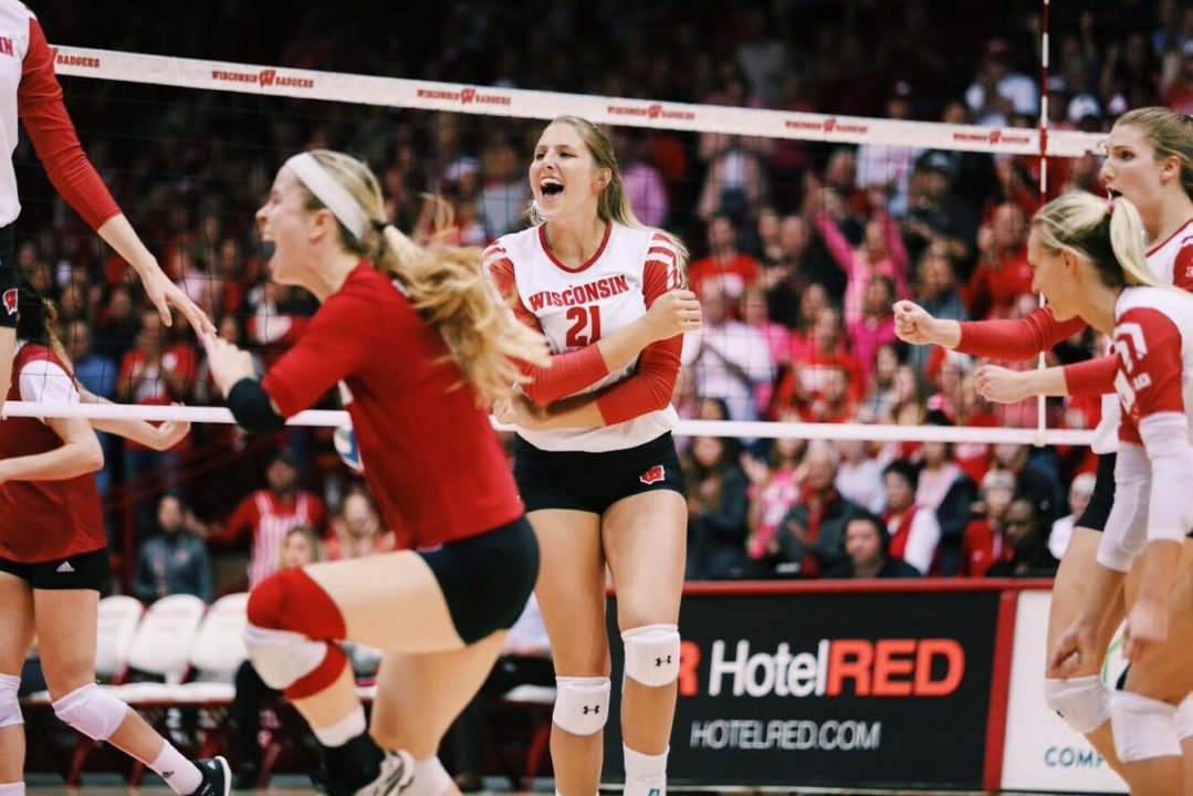 Loberg Sparks #7 Wisconsin to Five-Set Upset of #5 Nebraska