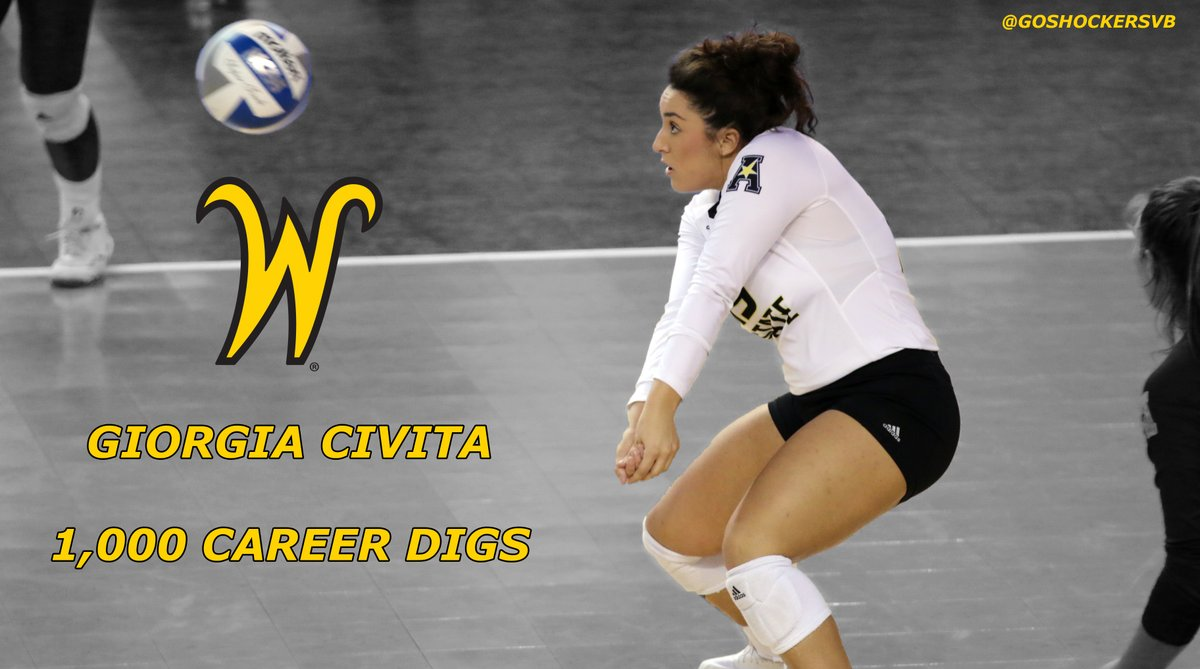Giorgia Civita Joins 1,000-Dig Club for Wichita State