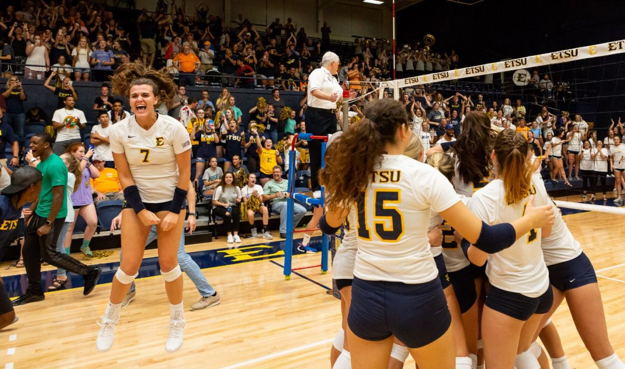 It Ain't Over: ETSU Rallies from Down 7-0 in Set 5 to Top Tennessee