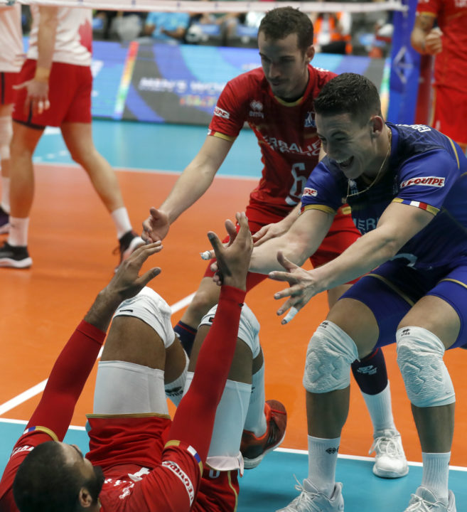 France Overcomes 16-2 Block Deficit to Beat Canada 3-1 (POOL B)