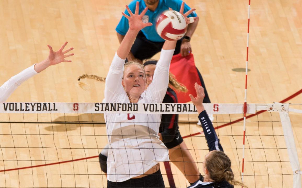 Stanford's Kathryn Plummer Tabbed as VolleyMob Player of the Week
