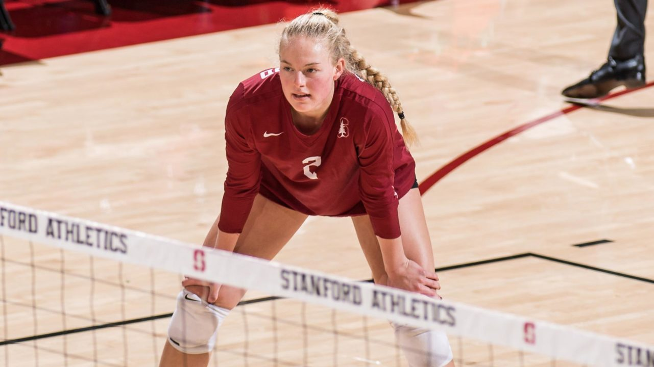 Stanford's Kathryn Plummer Selected AVCA Player of the Week