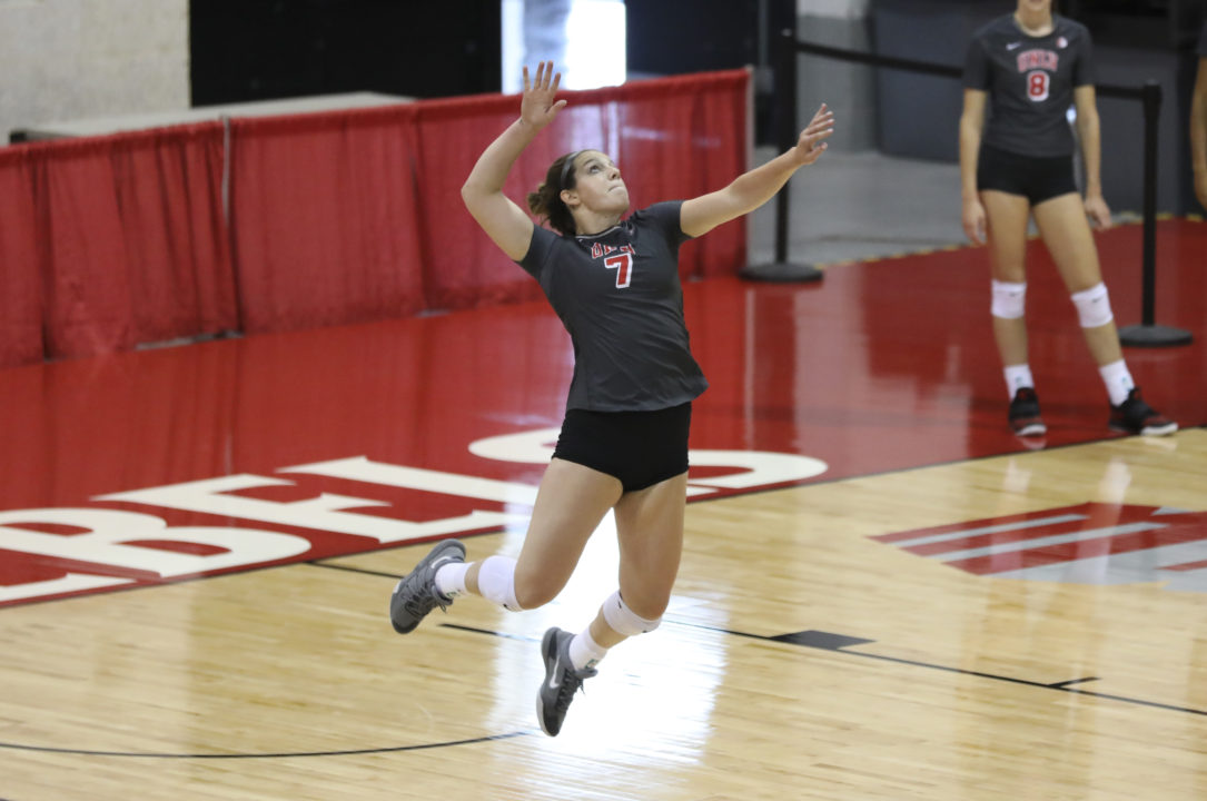 UNLV's Mariena Hayden Tabbed as VolleyMob Week 5 Player of the Week
