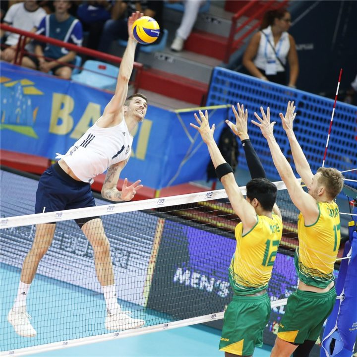 Anderson Helps USA Men Hold Off Australia in 5 Sets in Pool C