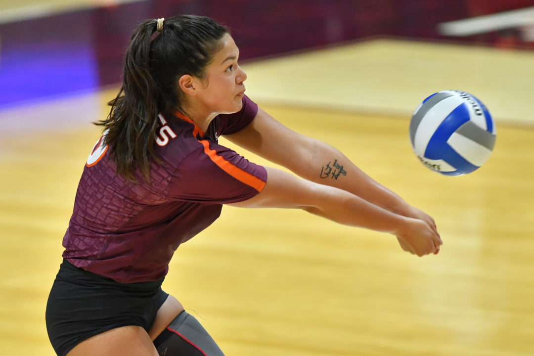 Virginia Tech's Rafferty Posts 1000th Dig in 4-Set Win Over IUPUI