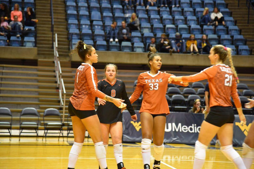 #6 Texas Sweeps West Virginia; TCU Keeps Kansas State Winless