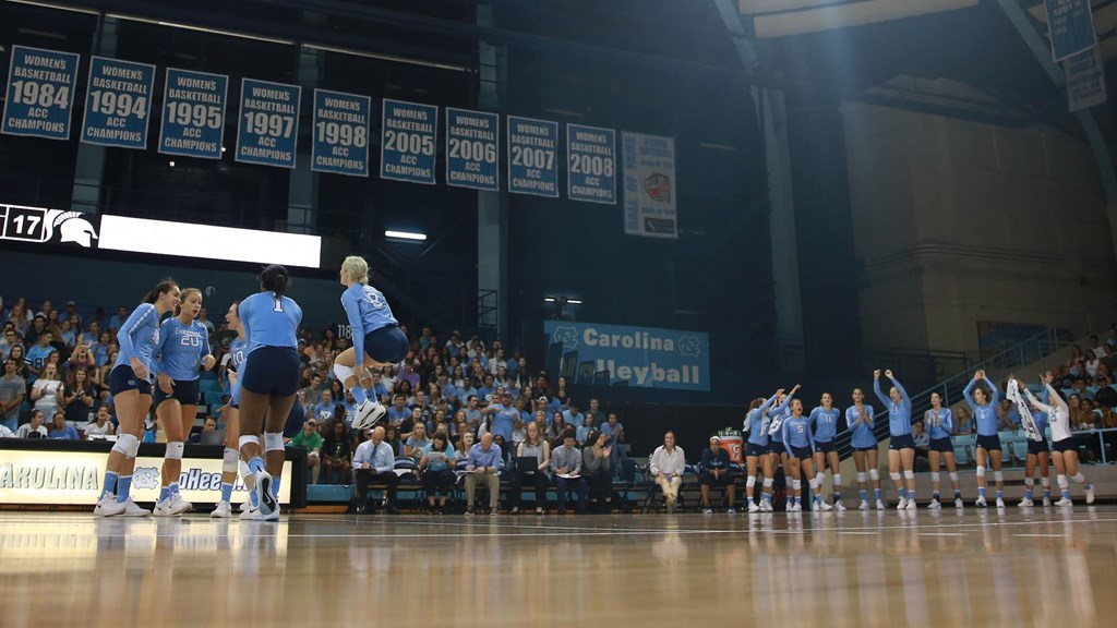 Tar Heels Rally for 4-Set Win Over NC State
