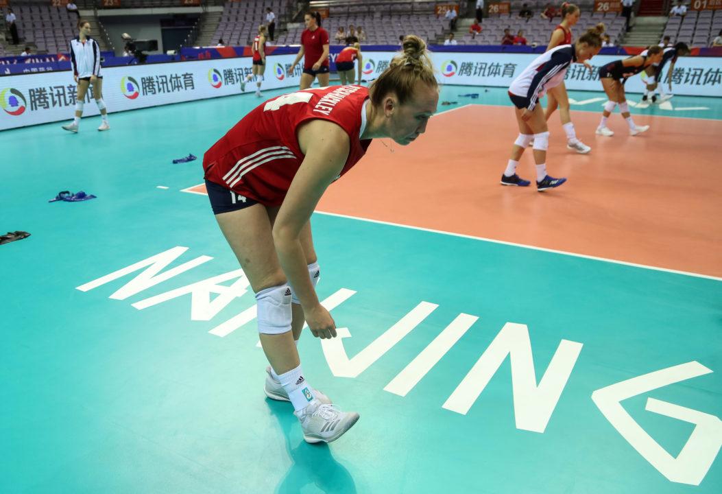 Nations League MVP Michelle Bartsch-Hackley Starts Worlds on Sideline