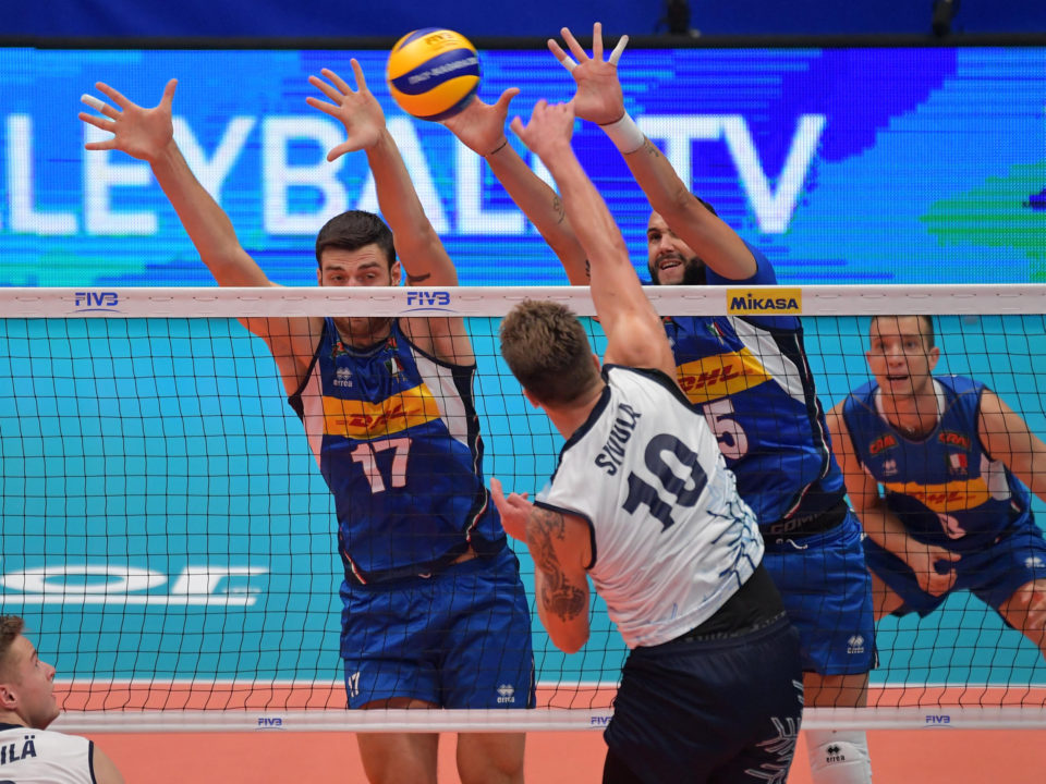 Italy, Russia Block Out the Competition for #FIVBMensWCH Pool E Sweeps