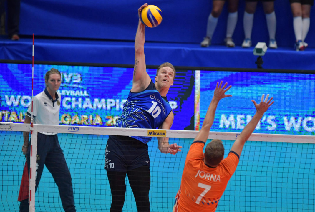 """Sivula: Finland """"Played Good Volleyball for Only 20 Minutes"""" vs. Dutch"""