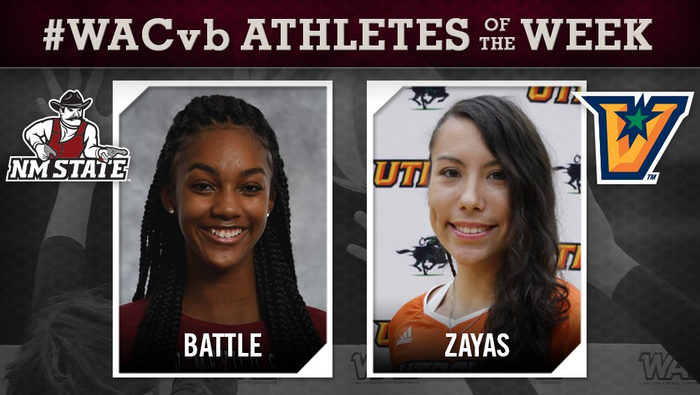 New Mexico State's Battle, UTRGV's Zayas Named WAC Players of the Week