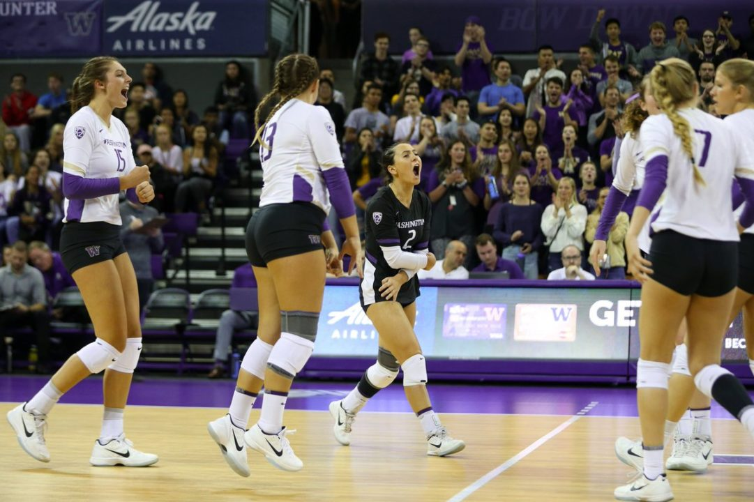 #14 Huskies Survive in Five; Ducks and Wildcats Win Pac-12 Openers