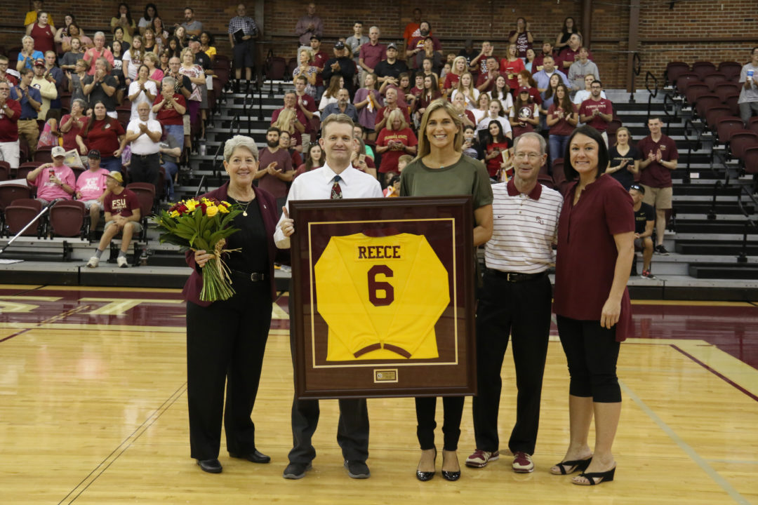 WATCH: Florida State Retires Gabby Reece Jersey