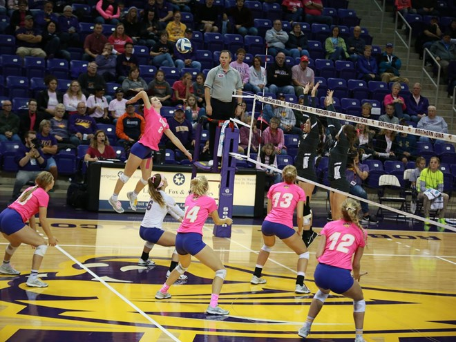 UNI Outlasts Valparaiso in 5 to Remain Atop #MVC Standings