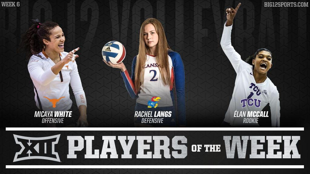 Texas's White, Kansas' Langs, TCU's McCall Earn Big 12 Honors