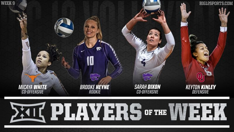 K-State's Dixon, Texas' White Named Big 12 Co-Players of the Week