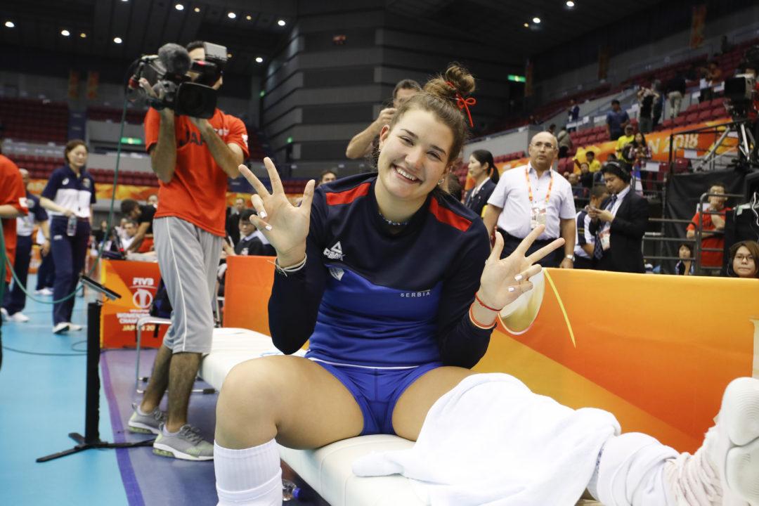Serbia's Bojana Milenkovic Done at Worlds with Knee Injury