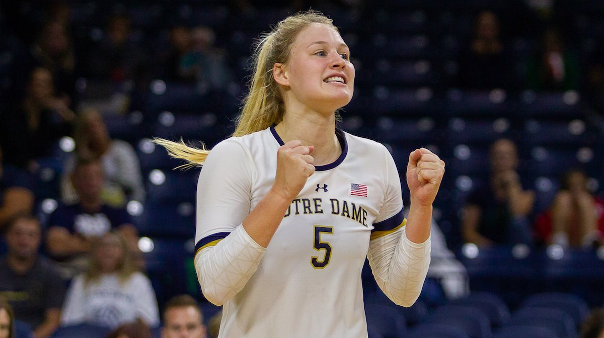 Notre Dame's Charley Niego Tabbed as ACC Player, Freshman of the Week