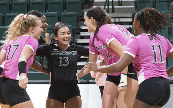 Charlotte Plays Host to FIU for Dig Pink Friday