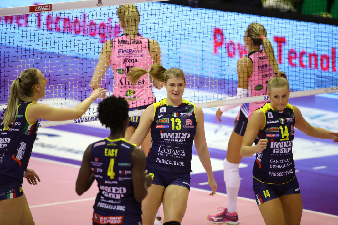 10 Americans Suit Up For First Round Of Italian Lega Volley – Defending Champs Conegliano Starts Out Strong