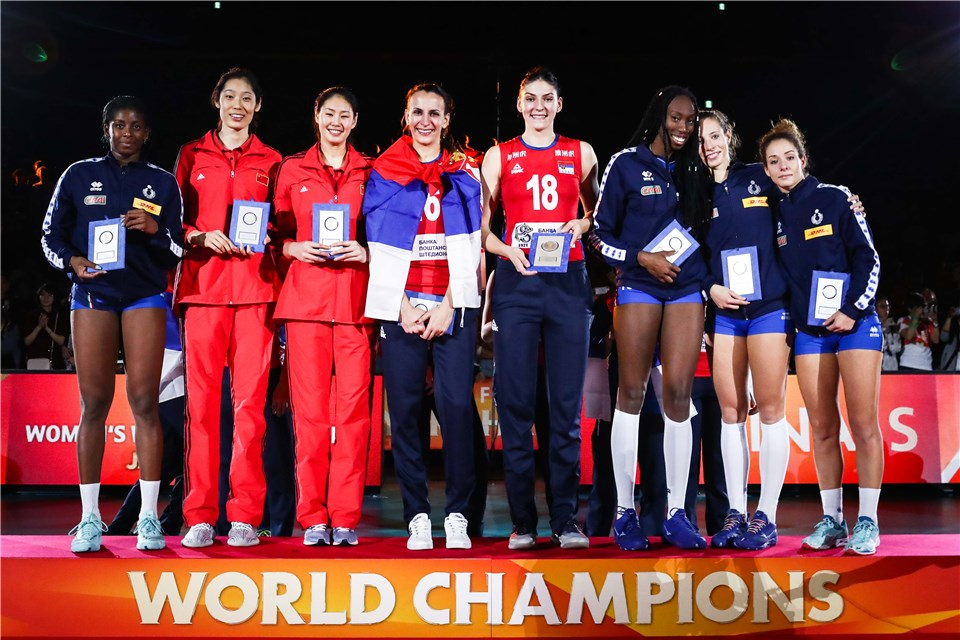 MVP Tijana Boskovic Headlines FIVB WCH's Dream Team