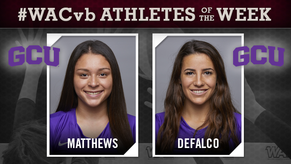 Grand Canyon's Matthews, DeFalco Named WAC Players of the Week