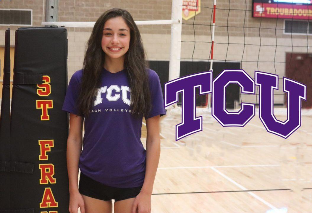 TCU Beach Earns Commit From 2019 Recruit Kathryn Kramer