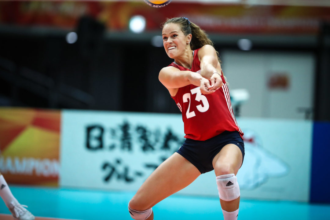 OH-Turned-Libero Kelsey Robinson Leads Worlds in Reception Efficiency