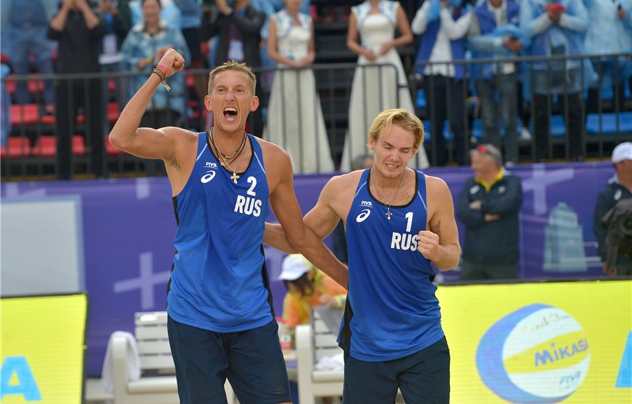 Russians Semenov/Leshukov Best Countrymen for 2nd FIVB Title of 2018