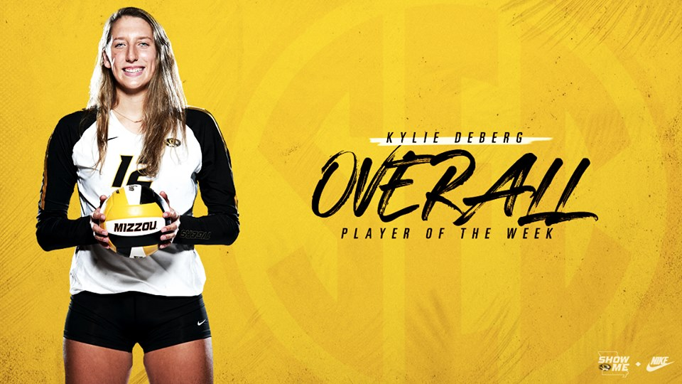 Missouri's Deberg Named SEC Player, Offensive Player of the Week
