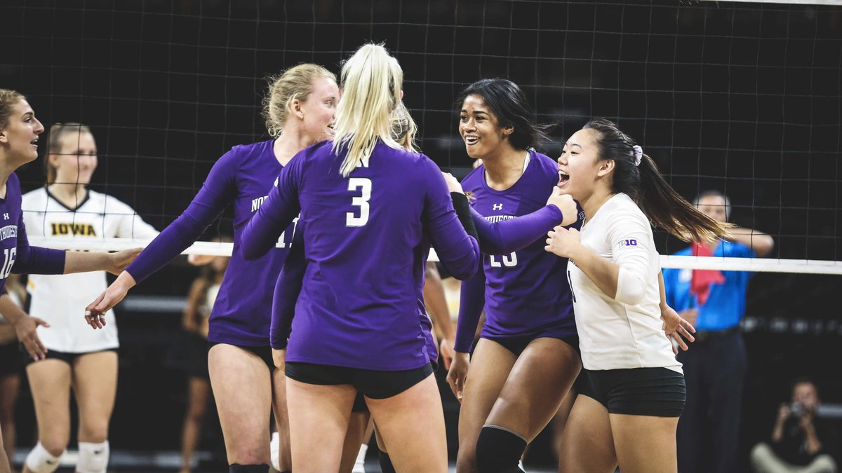 Northwestern's Five Set Win over Iowa Highlights Big Ten Play